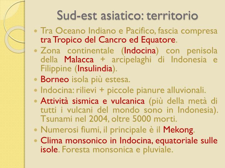 Sud-est asiatico: territorio