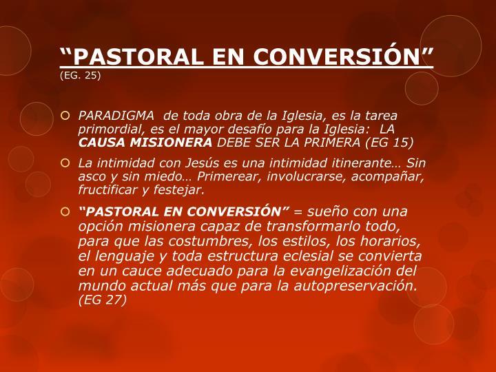 """""""PASTORAL EN CONVERSIÓN"""""""