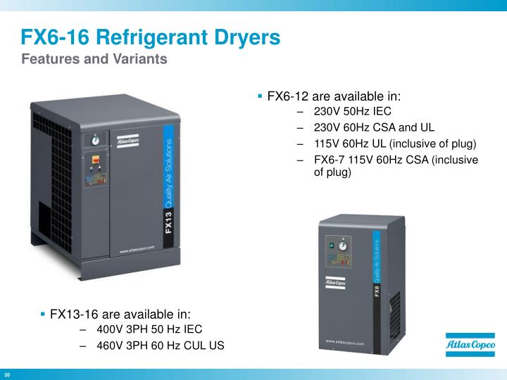 FX6-16 Refrigerant Dryers