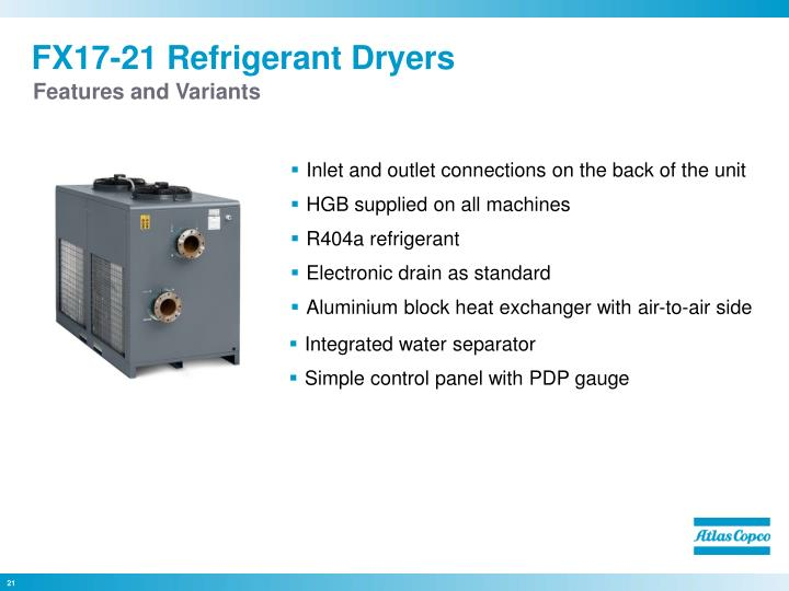 FX17-21 Refrigerant Dryers