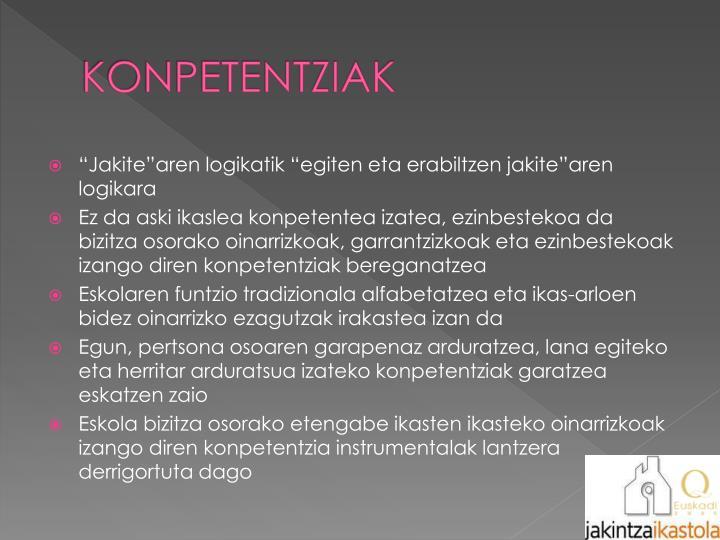 KONPETENTZIAK