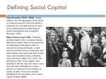 defining social capital