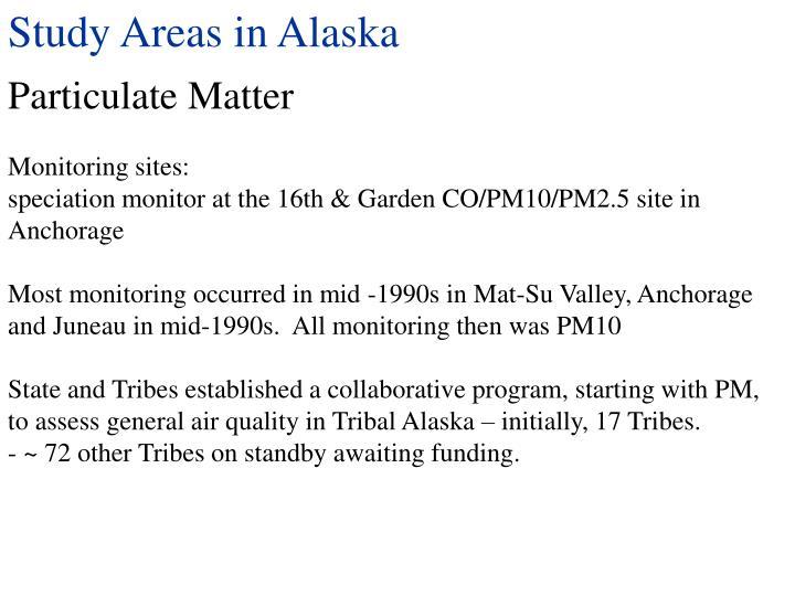 Study Areas in Alaska