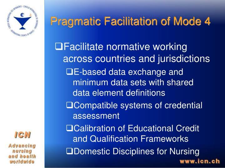 Pragmatic Facilitation of Mode 4