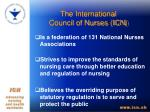 the international council of nurses icn