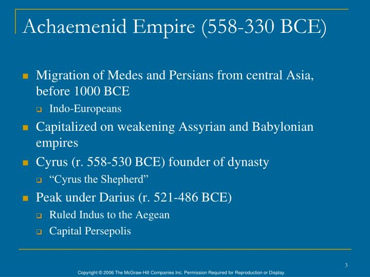 Achaemenid empire 558 330 bce