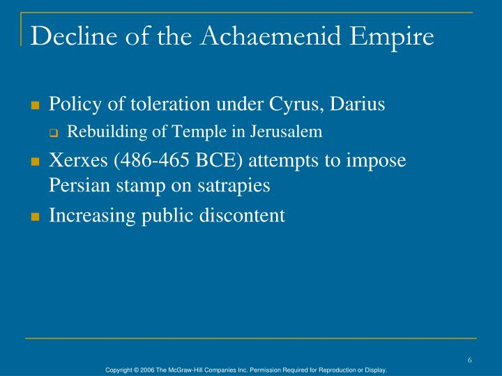 Decline of the Achaemenid Empire