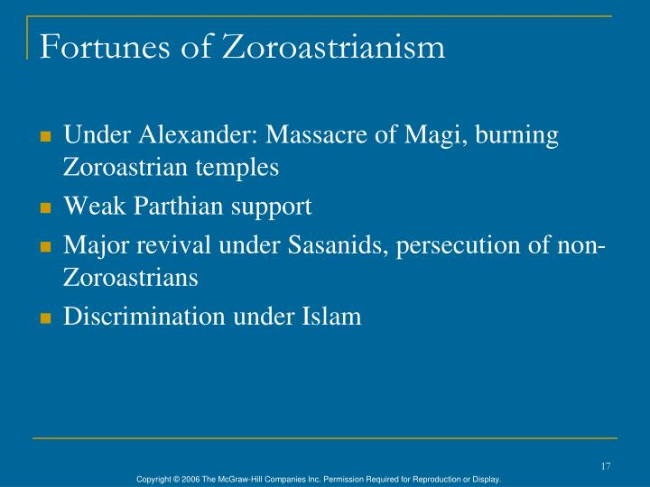 Fortunes of Zoroastrianism