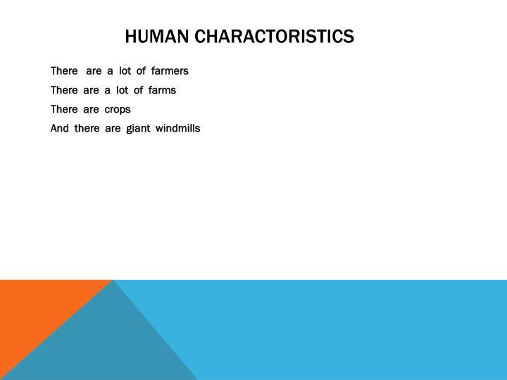 HUMAN CHARACTORISTICS