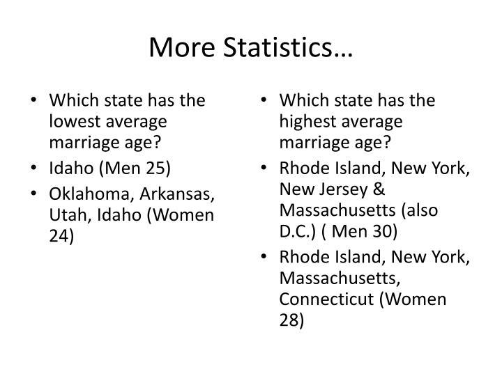 More Statistics…
