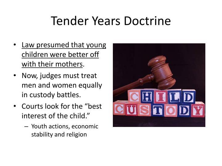 Tender Years Doctrine