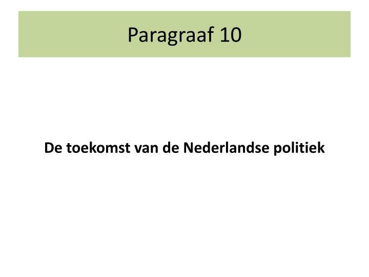 Paragraaf 10