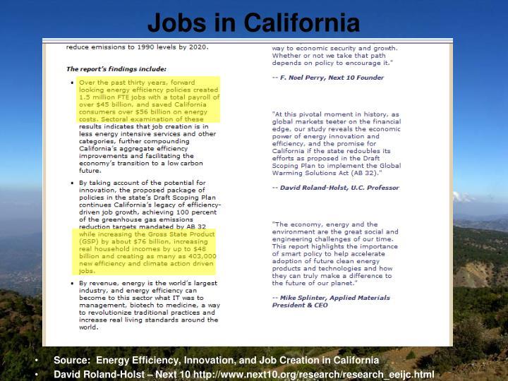 Jobs in California