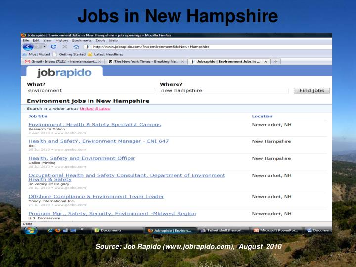 Jobs in New Hampshire