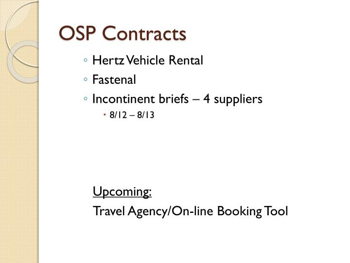 OSP Contracts