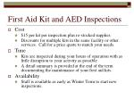 first aid kit and aed inspections