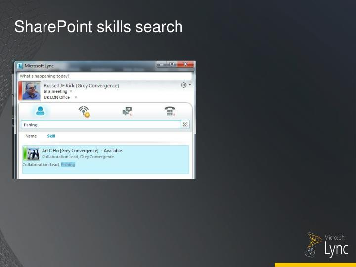 SharePoint skills search