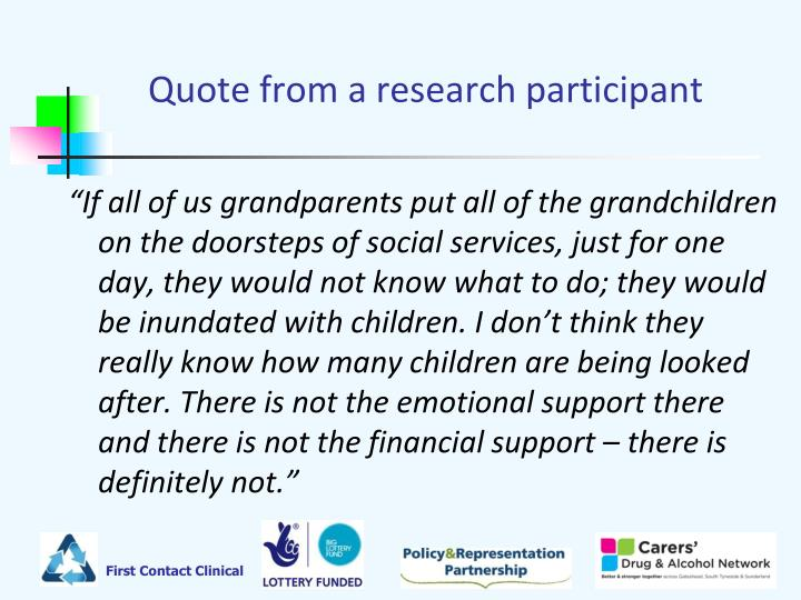 Quote from a research participant
