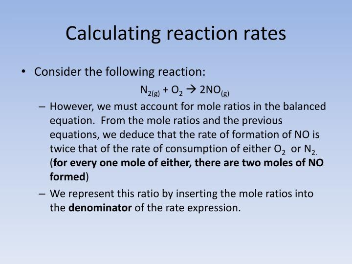 Calculating reaction rates