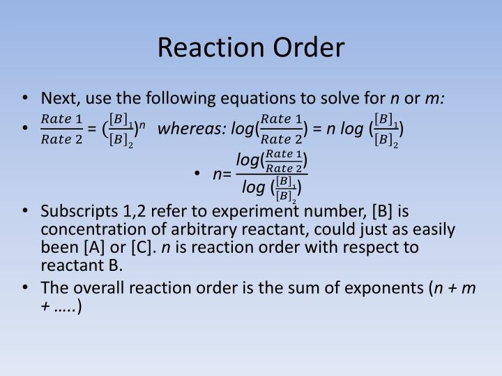 Reaction Order