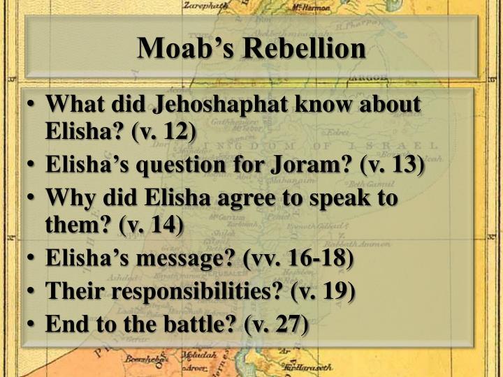Moab's Rebellion