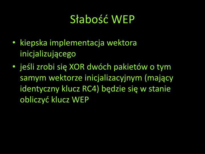 Słabość WEP
