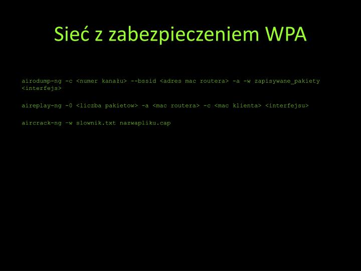 Sieć z zabezpieczeniem WPA