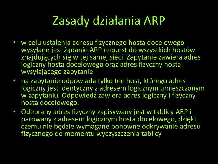 Zasady działania ARP