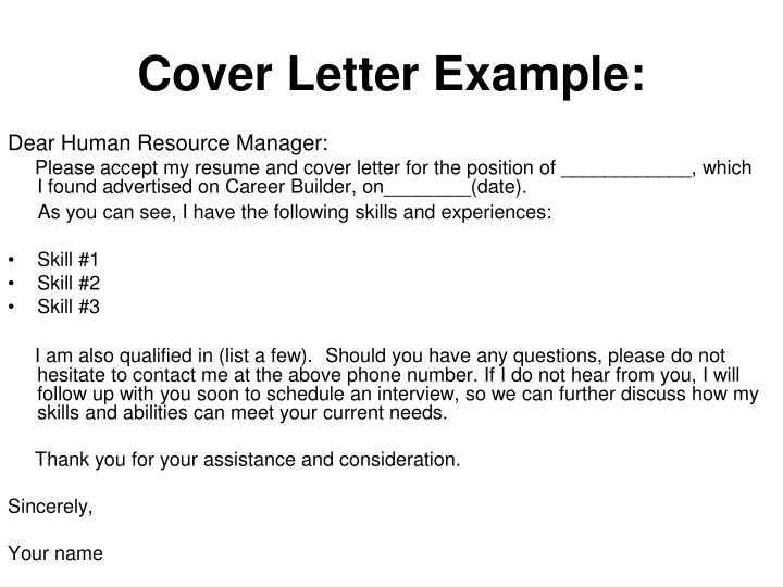 Cover Letter Example: