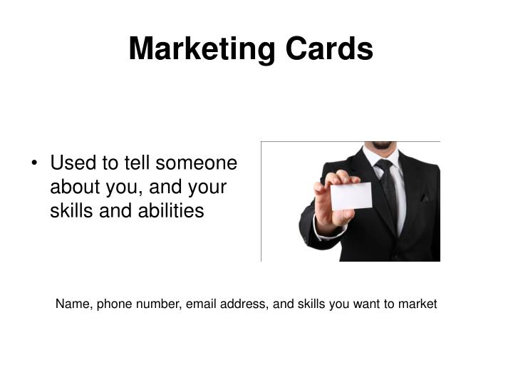 Marketing Cards