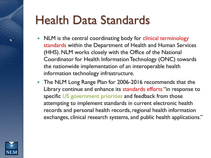 Health data standards