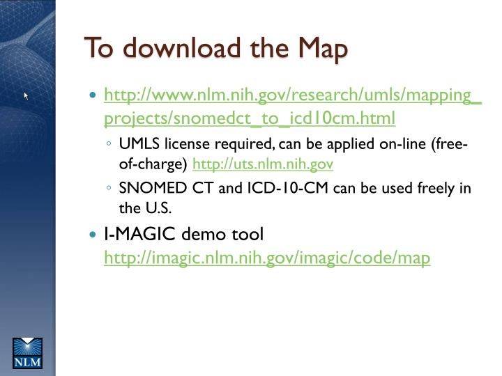 To download the Map