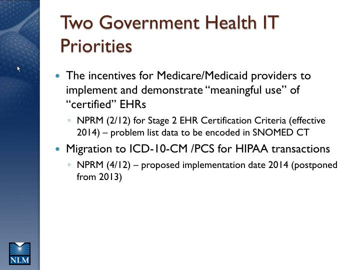 Two government health it priorities