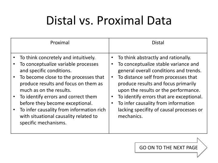 Distal vs. Proximal Data
