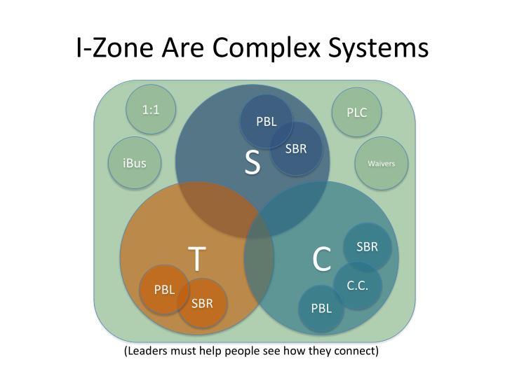 I-Zone Are Complex Systems