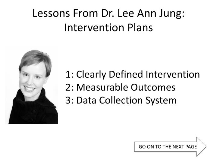 Lessons From Dr. Lee Ann Jung: