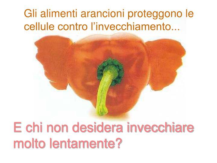 Gli alimenti arancioni proteggono le cellule contro l'invecchiamento...