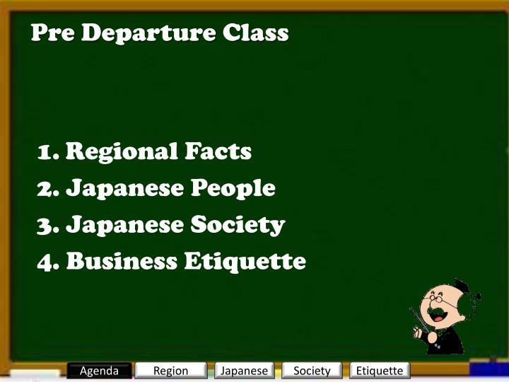 Pre Departure Class