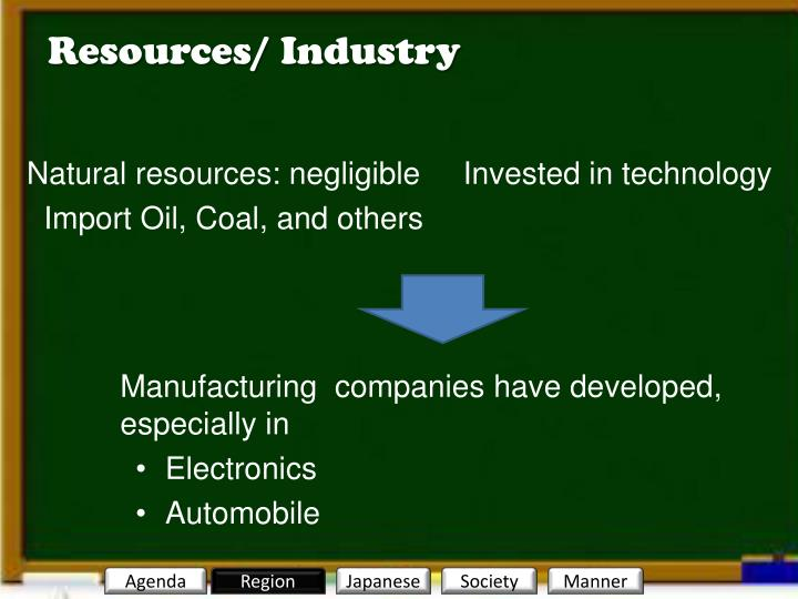 Resources/ Industry