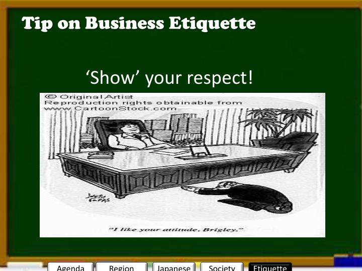Tip on Business Etiquette