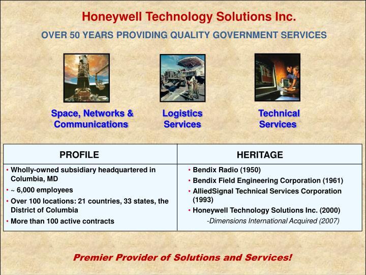Honeywell Technology Solutions Inc.