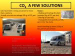 co 2 a few solutions