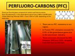 perfluoro carbons pfc
