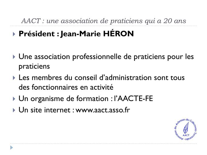 AACT : une association de praticiens qui a 20 ans