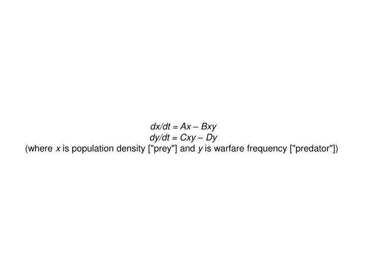dx/dt = Ax – Bxy