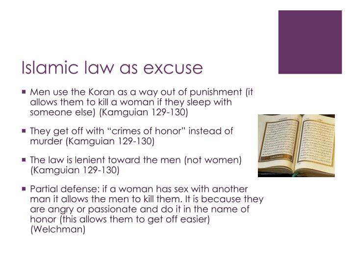 Islamic law as excuse