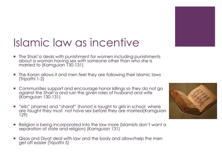 Islamic law as incentive