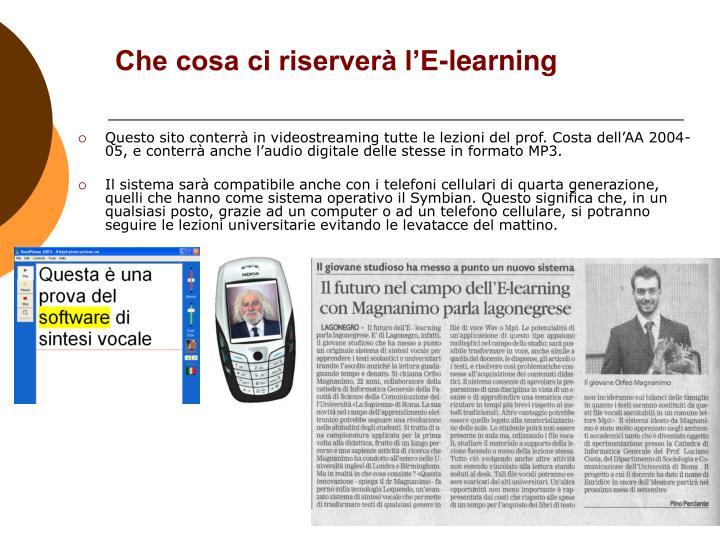 Che cosa ci riserverà l'E-learning