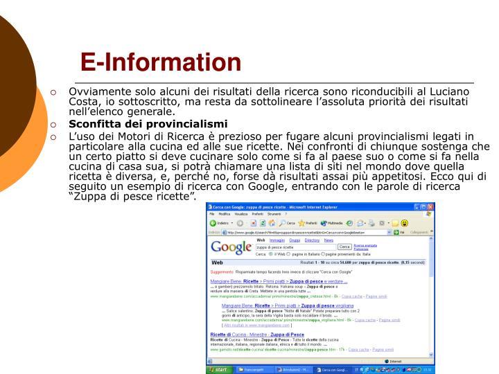E-Information
