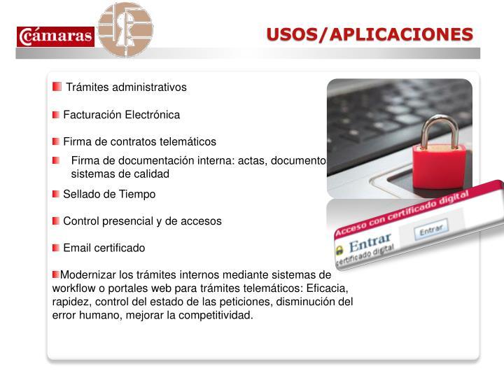 USOS/APLICACIONES